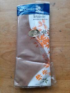 Vintage Berkshire Tendrelle Bri Nylon CORSICAN SPICE stockings Size 9.5 - 10
