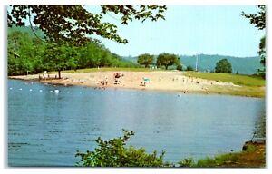 1960s Swimming Beach at Black Rock State Park, CT Postcard