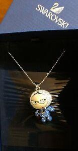 Swarovski Eliot Swing Sing Bow Tie Blue Pendant Necklace Jewelry - 1128059