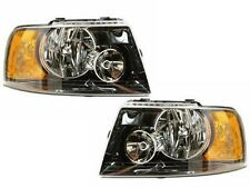 2003-2006 FORD EXPEDITION W/BLACK HOUSING HEADLIGHTS HEADLAMPS LIGHTS LAMPS PAIR