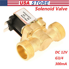 12v G34 Normal Closed Brass Electric Solenoid Valve For Water 002mpa08mpa Us
