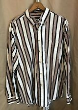 Basic Editions Shirt Size XL Mens Long Sleeve Button Front Vertical  Striped