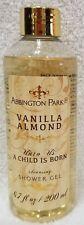 Abbington Park VANILLA ALMOND Shower Gel Cleansing Child Born 6.7 oz/200mL New