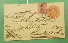DR WHO 1906 ARGENTINA BUENOS AIRES UPRATED LETTER CARD TO CHILE  g10390