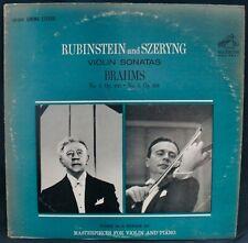 RUBINSTEIN & SZERYNG~VIOLIN SONATAS~BRAHMS~RCA #LSC 2619~Red Seal stereo