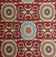 LC11 Woven Dengri Mosaic Geo Floral Tapestry Suzani Upholstery Home Decor Fabric