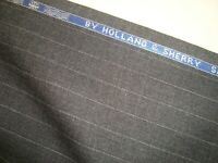 """4 yd HOLLAND SHERRY Wool Fabric Snowy River 8oz Super 100s Suiting Gray 144"""" BTP"""