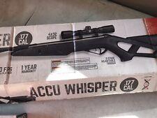 Gamo Accu Whisper Air Rifle with 4x32 Scope Nitro Piston 1250 fps .177 cal
