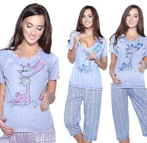 Mija - 3in1 Stillpyjama Stillschlafanzug Umstandspyjama Pyjama Schlafanzuge 2069