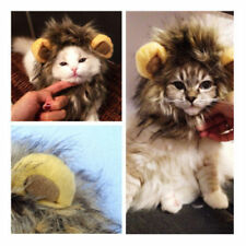Pet Dog Cat Hat Costume Lion Mane Wig For Cat Halloween Fancy Dress Up With Ears