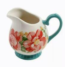Pioneer Woman Mini Pitcher Vintage Floral 10.4 Oz Stoneware Creamer