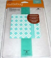 "Cricut Cuttlebug Embossing Folder 5"" x 7"" + Border CANE BACK CHAIR"