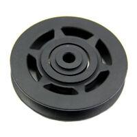 95mm Black Bearing Pulley Wheelble Gym Equipment Part Wearproof L2P8