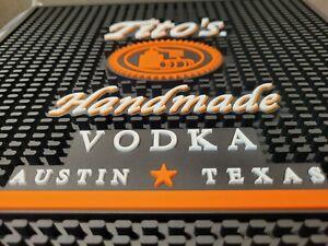 """TITO'S Handmade Vodka Bar Mat - Counter Drink Spill Mat 12"""" x 12"""" Austin TX NEW"""