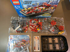 Lego 7944 Fire Hovercraft Boat Firefighter New Open Box Sealed Bags
