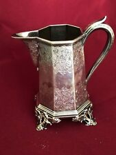 ANTIQUE AMERICAN STERLING SILVER PITCHER MARKED BALL TOMPKINS&BLACK 396 GRAMS