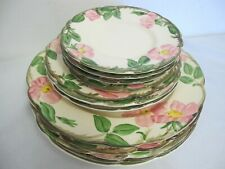 FRANCISCAN DESSERT ROSE EARTHENWARE PLATES (11) VARIETY SIZES & STAMPS