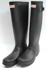 Hunter 'Original Tall' Rain Women's Boot (Matte) - Black [US 8]