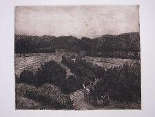 FRIEDRICH SCHAPER ,1869 BRAUNSCHWEIG  -1956 HAMBURG . PFERDEKARREN in LANDSCHAFT