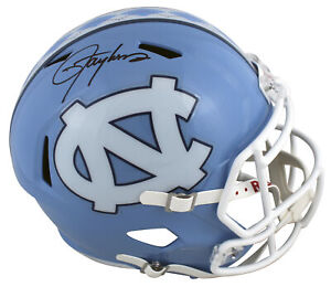 North Carolina Lawrence Taylor Signed Full Size Speed Rep Helmet BAS Witnessed