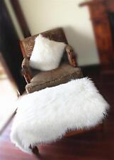 Soft Long Faux Fur Sheepskin Shaggy Fluffy Chair Seat Cushion Sofa Cover AreaRug