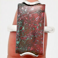 Natural Sonora Sunrise - Cuprite Blood 925 Sterling Silver Ring s.9 Jewelry 7428
