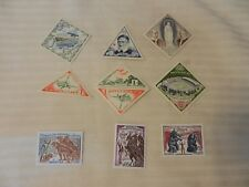 Lot of 9 Monaco Stamps Postal Transport, Circus, Football, Pope MNH
