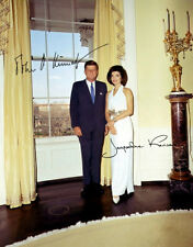 John Kennedy & Jackie Autographed Repro Photo 11X14 - 1963 White House JFK
