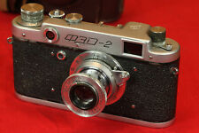 early Fed 2 Russian Soviet Rangefinder 35mm Film Camera + 50mm F3.5 folding lens