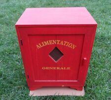 Ancien meuble bois peint épicerie grillagée Alimentation Générale Décoration