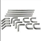 """Stainless Steel 2.5"""" Custom Exhaust Tubing Mandrel Bend Pipe Straight U-Bend Kit"""