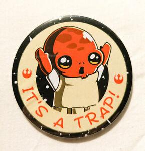 Admiral Ackbar It's a Trap Pin Badge - 38/58/77mm - Starwars Star Wars Chewbacca
