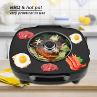 2 in 1 Grill Pfanne Bratpfanne Partypfanne Multipfanne Hot Pot Grill BBQ 1200W
