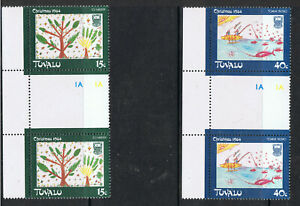 TUVALU 1984 CHRISTMAS - JOINED PAIRS