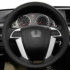 Leather Steering Wheel Cover Wraps for 8th Honda Accord 2008-2012 Odyssey 11-17