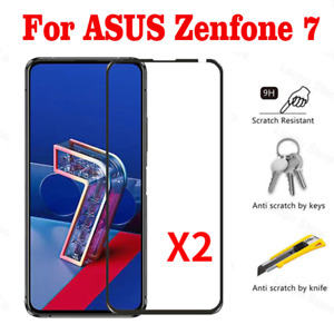 2PCS ASUS Zenfone 7 ZS670KS Zenfone 7Pro ZS671KS Tempered Glass Screen Protector