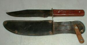 Vintage Sabre #631 ORIGINAL BOWIE Hunting-Survival Knife & Leather Sheath