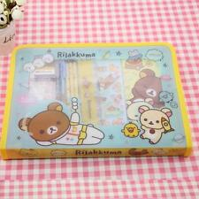 Rilakkuma Folder Set Stationery Pens Rubbers Kawaii Ruler Tape Dispenser Cute Ka