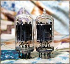 PLATINUM Match 1 pair RCA Conn CLEAR TOP 12AU7 ECC82 TUBES