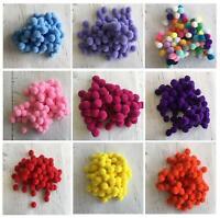 100 Small Tiny Mini 1 cm 10 mm Poms DIY Craft Pompom Assorted  Nose Snowballs