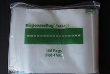 Reloc Reclosable Zip Lock Poly Bags Heavy Duty 4mil 8x8 100 Pcs