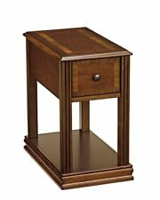 Ashley Furniture  Breegin Contemporary Chair Side End Table Rectangular Brown