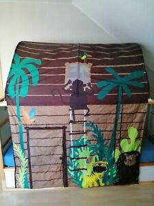 Baldachin Dschungel Ikea für Hochbett Kura - wie NEU