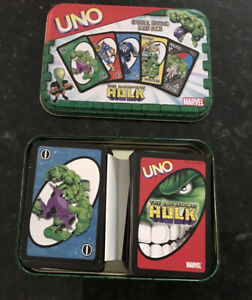 Incredible Hulk Themed UNO Card Game Special in collectible tin Complete