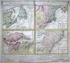Grafiken & Drucke aus Nordamerika mit Landkarten-Motiv und Kupferstich-Technik