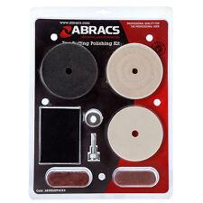 Abracs 7pc kit buffing & polishing compound set calico mop felt mop sponge block