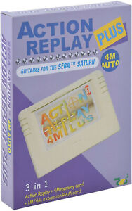 Saturn Action Replay 4M Auto Plus Action Replay Cheats Backup Memory For Game