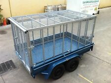 Brand new Caged Box Trailer 10X6FT  2T ATM Tandem axle cattle cattle crate style