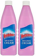 2x Bottles Of Windolene Emulsion Original Cream 500ml Window Cleaner