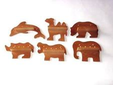 6 x 4pc Mini Wild Animal Thimble Display Racks ( Pine )( huge range - see list )